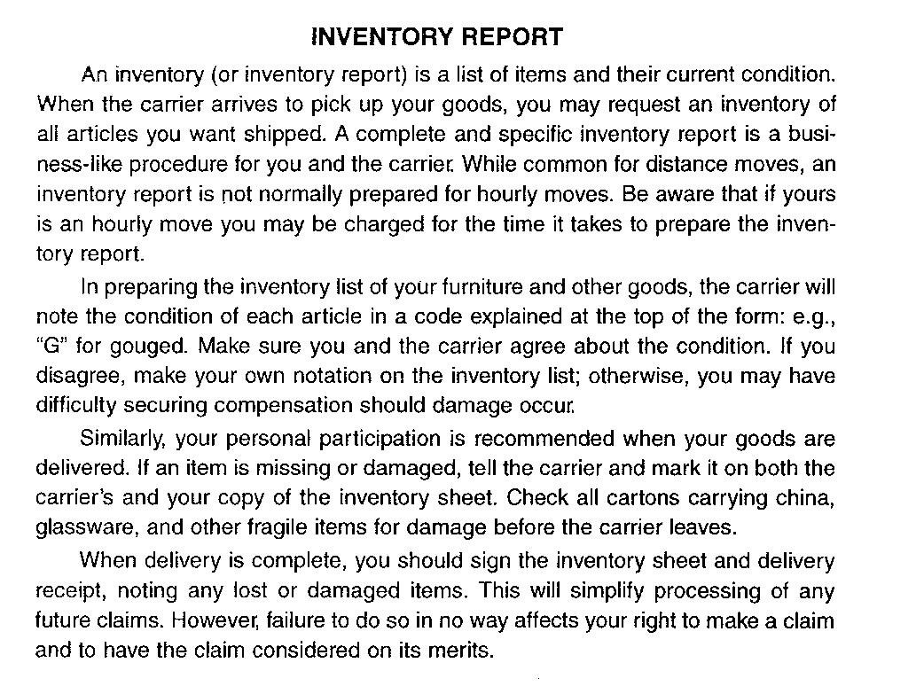 Inventory Booklet